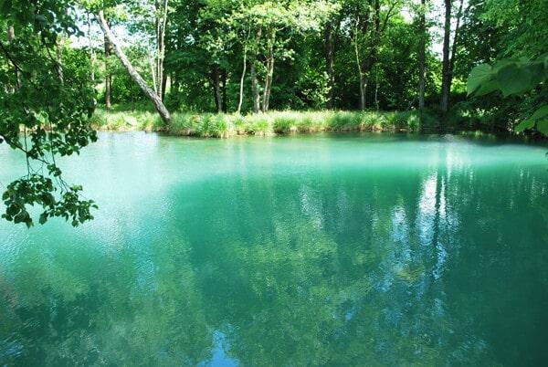 Blue waters of Blue Krynica