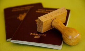 passport with visa stamp, visa to Belarus