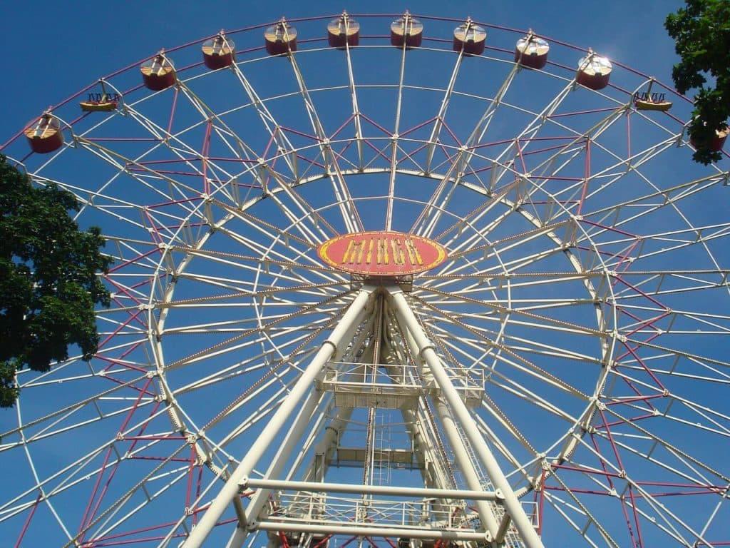 Ferris wheel in Gorky Park, parks of Minsk