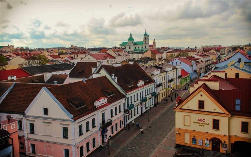 Great view of Grodno with its attractions