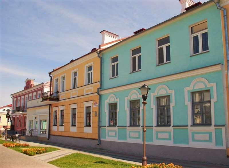 Colorful houses of Pinsk