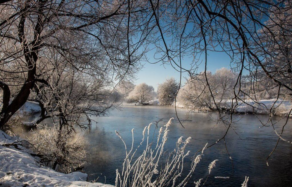 Beautiful winter in Belarus