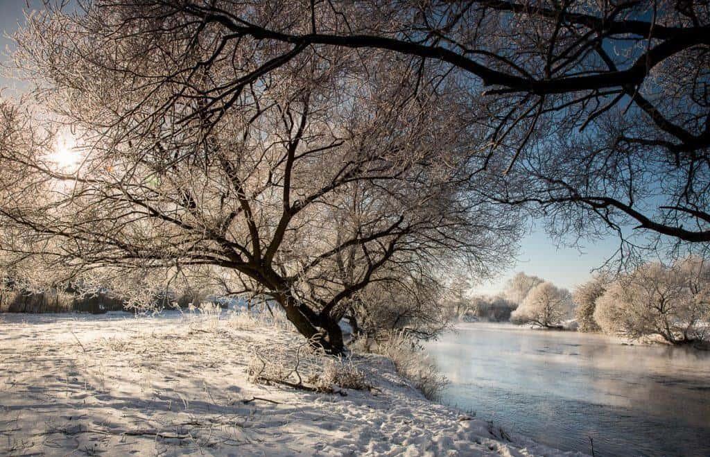 Зимняя река в Беларуси