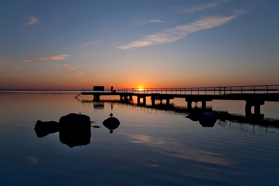 Закат над озером Нарочь