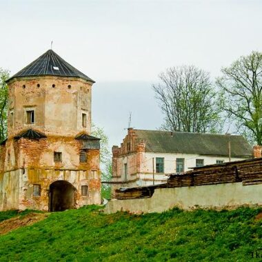 The gate of Lubcha castle before reconstruction