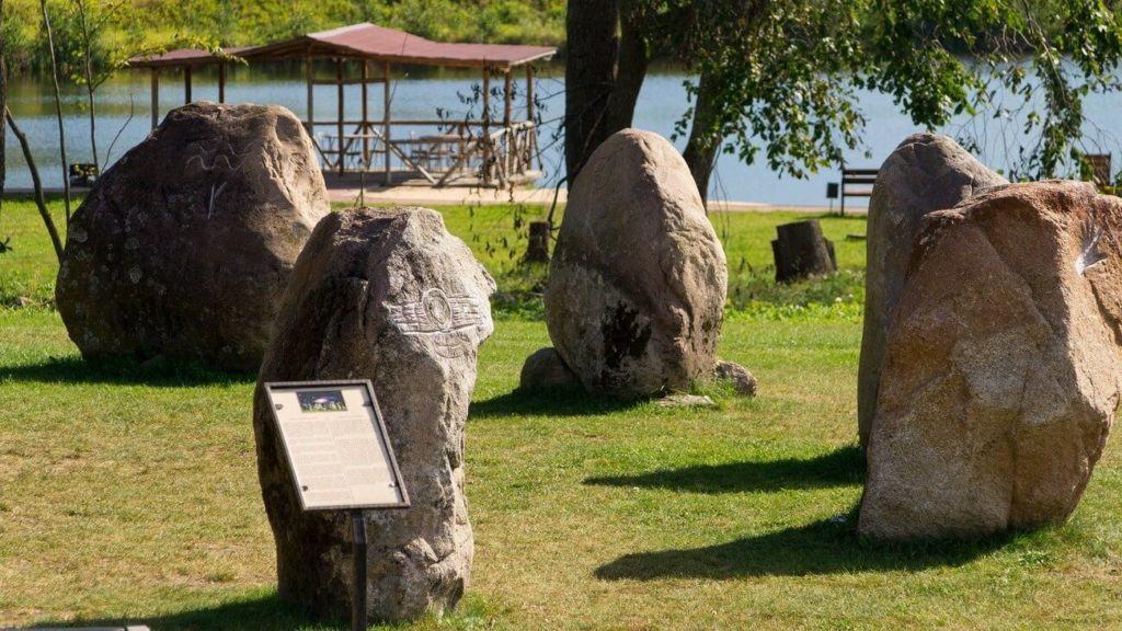 Processed boulders cromlechs Sola