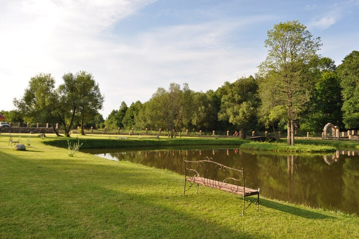 Lake with a nice lawn around Zula