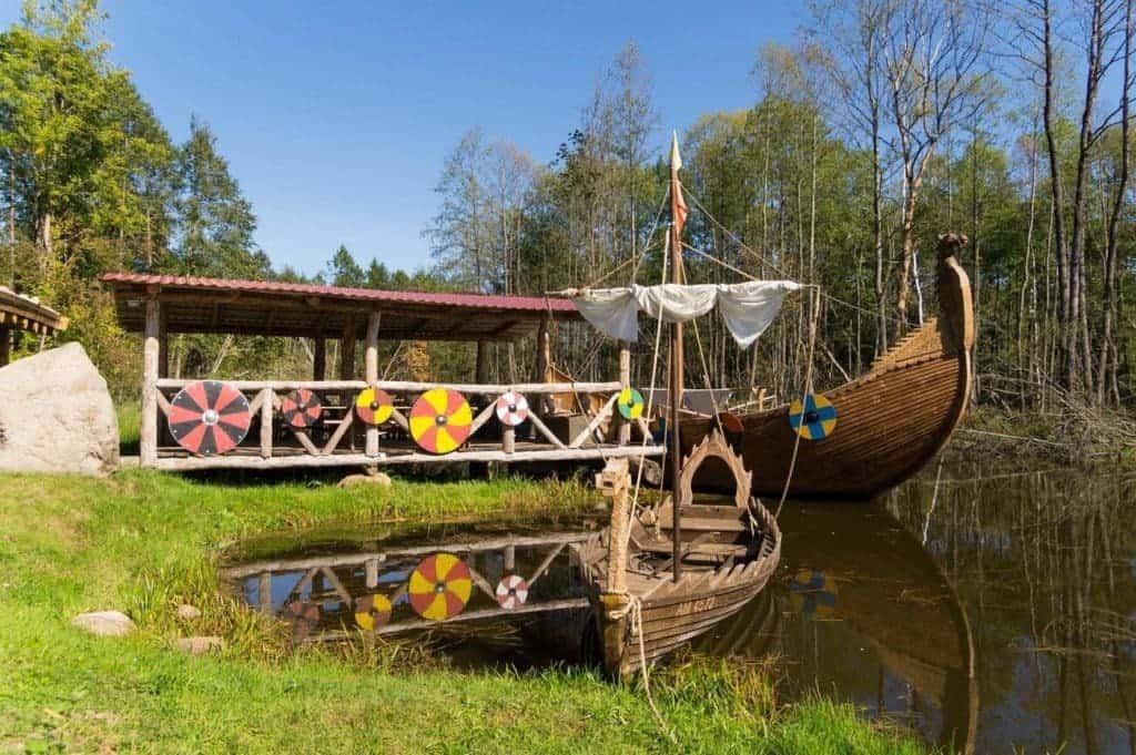 Viking ships at the wharf in Sola