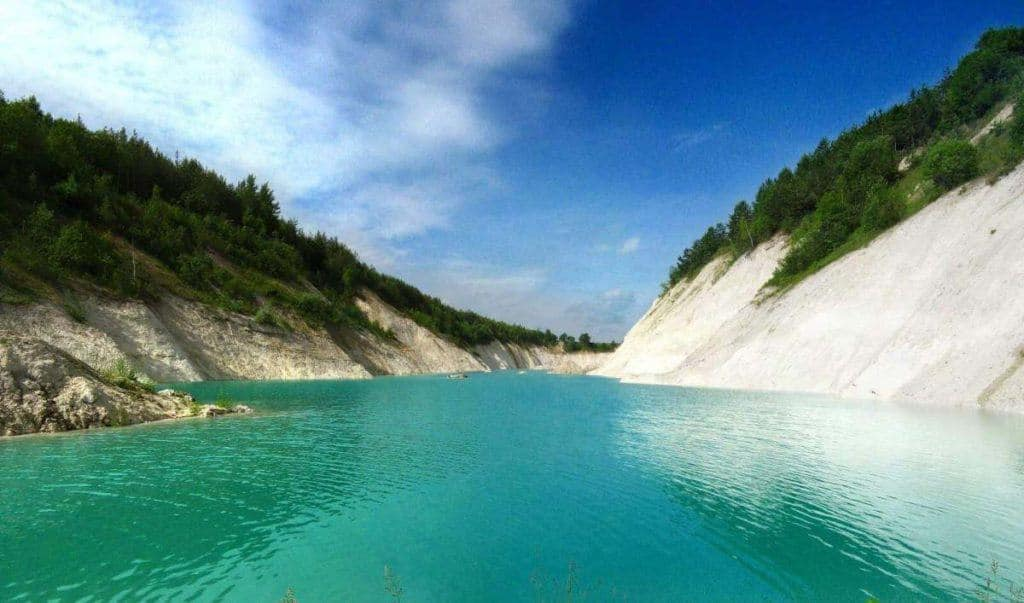 Beautiful chalk pit near Volkovysk in Belarus to visit this summer