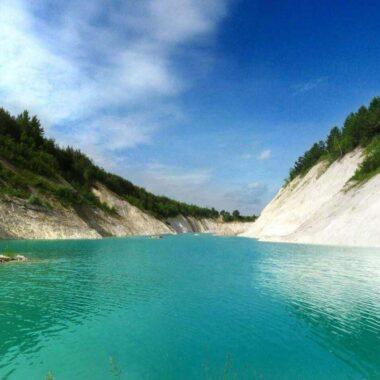 Beautiful chalk pit near Volkovysk in Belarus to visit this summer