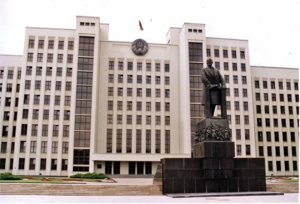 Lenin monument in Minsk