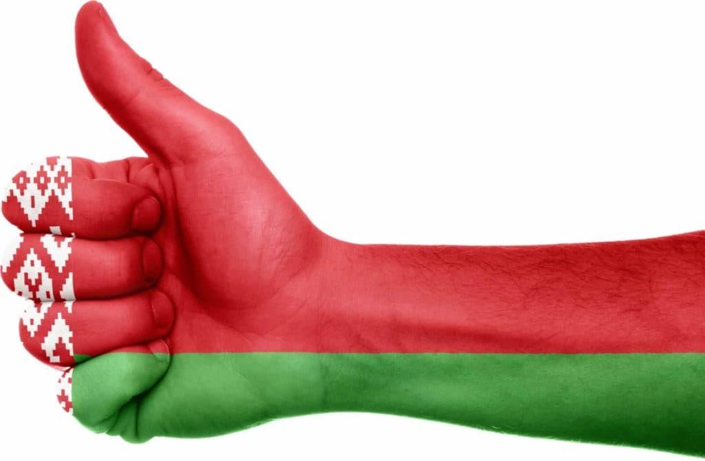 Belarusian flag finger