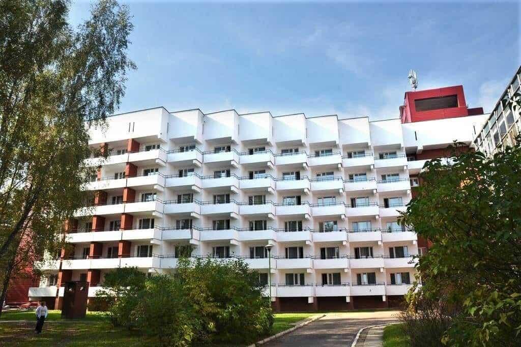 Belaya Rus Sanatorium from the outside