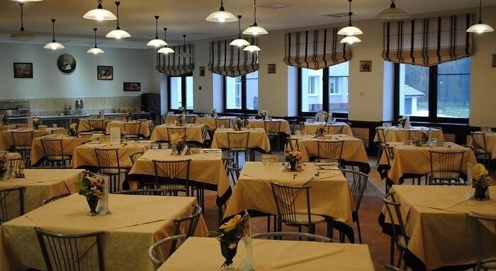 Food hall in Borovoye Sanatorium Belarus
