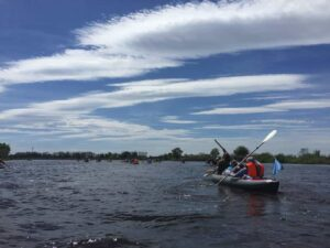 kayaking on the lake, water routes Belarus