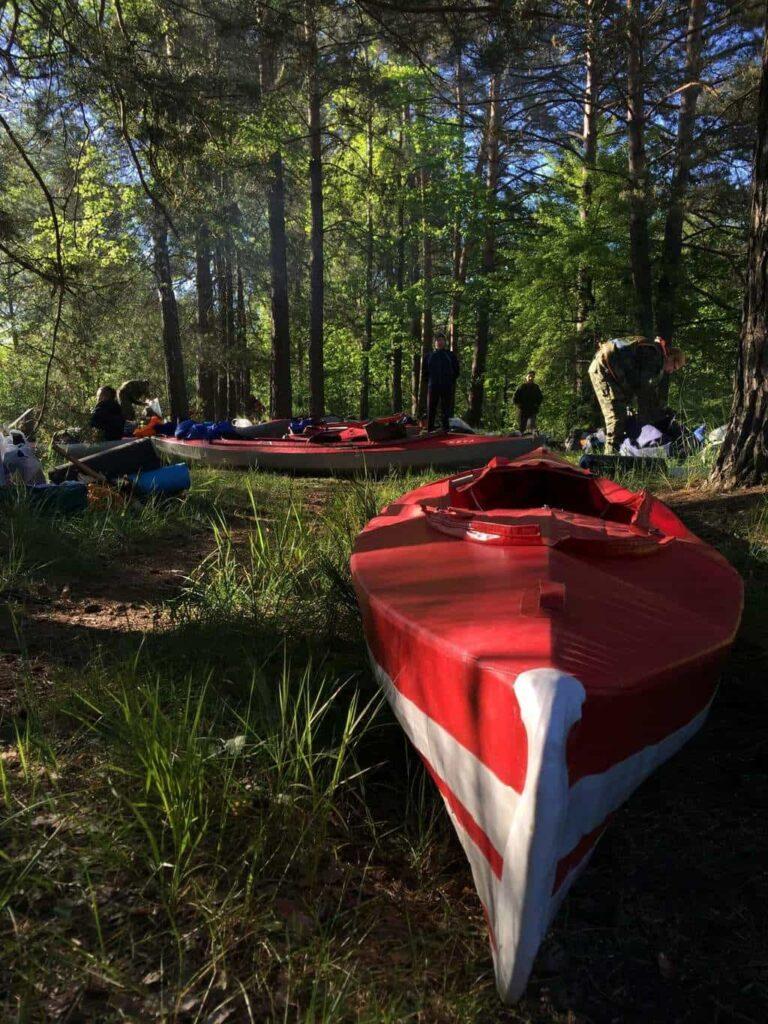 Kayaking on the rivers