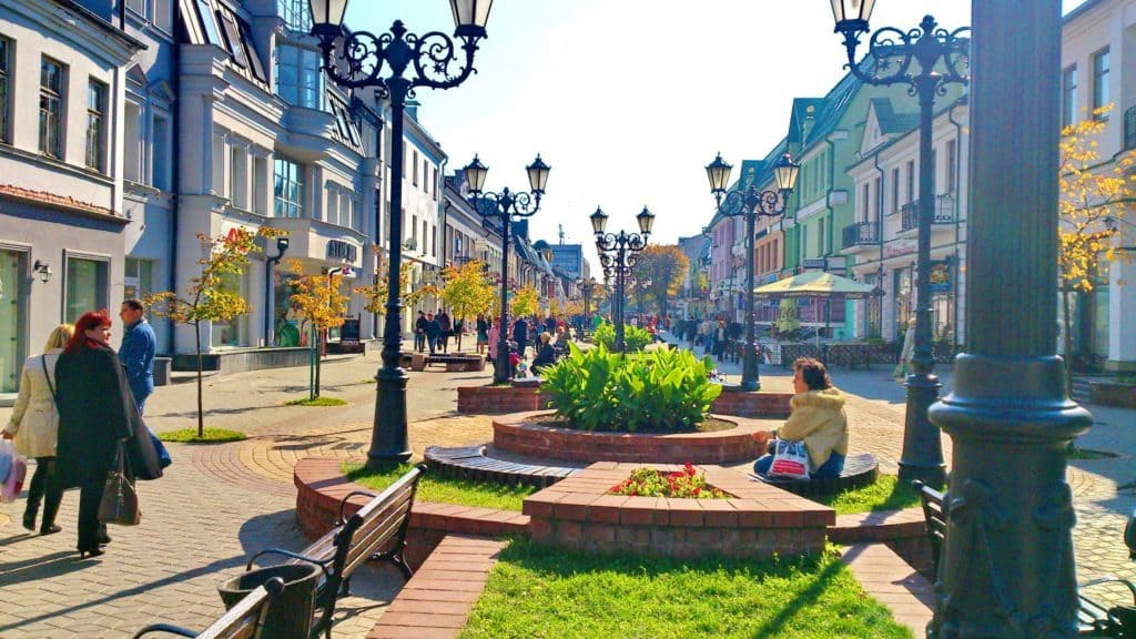 Улица Советская, центр Бреста