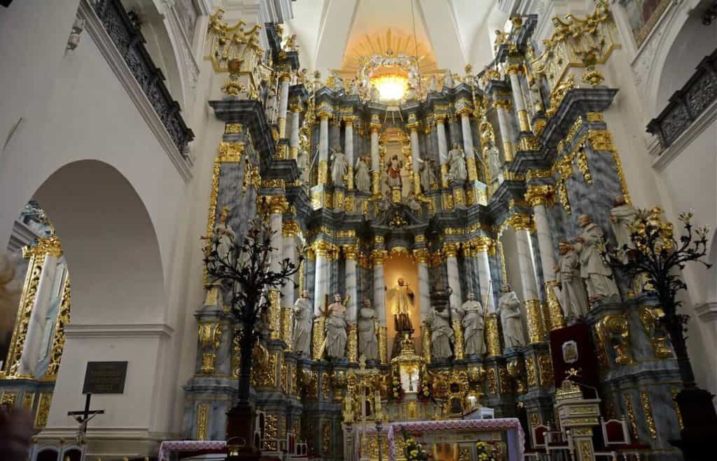 Farny church in Grodno inside, top cities in Belarus