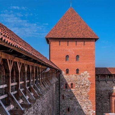 Lida castle from inside