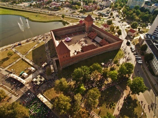 Lida castle from the birds eye view