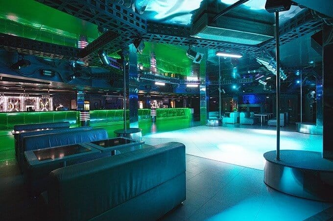 Titan Nightclub in Minsk, empty