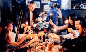 новый год в минске 2019, праздничный стол