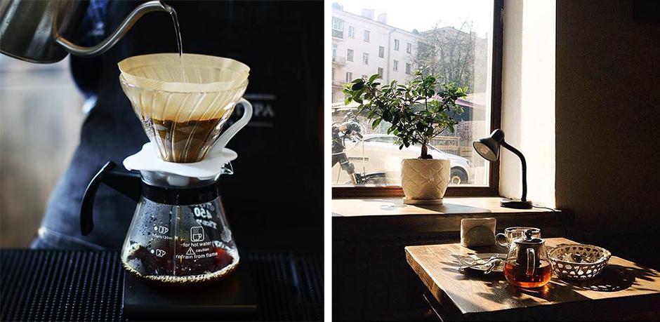 кофейня с жареными свежими зернами