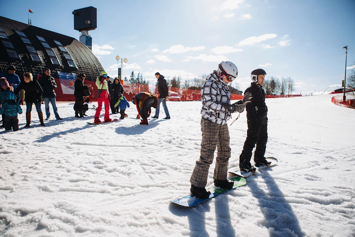 ski resort silichi, snow
