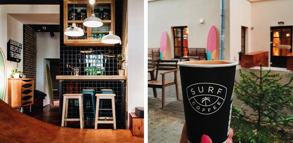 кофейня в пляжном стиле