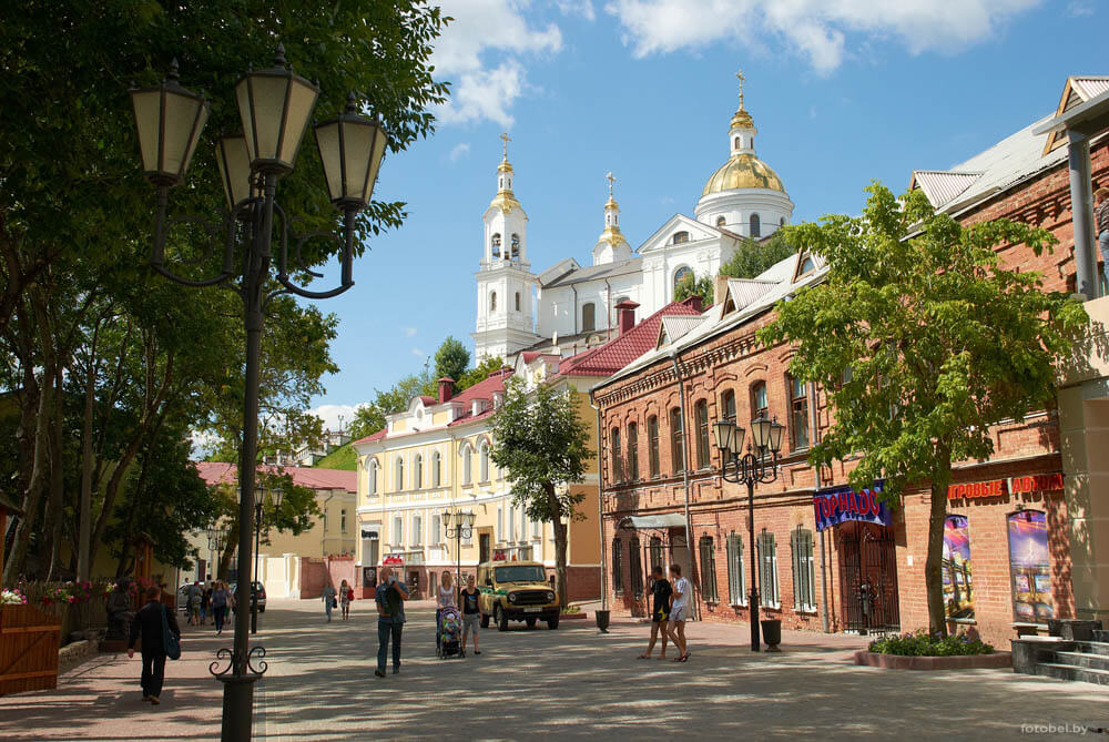 Street of Vitebsk in the day time
