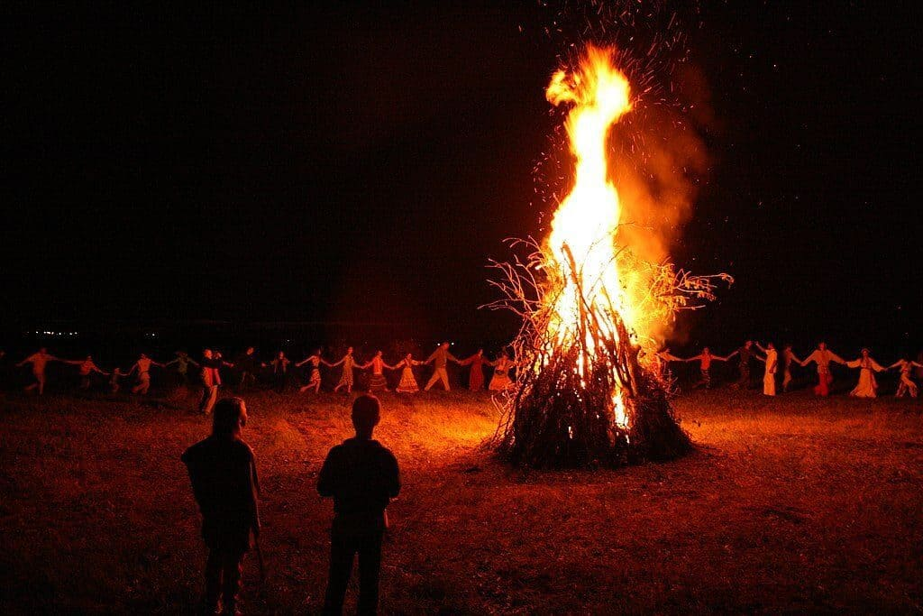 Fire on Ivan Kupala day in Belarus