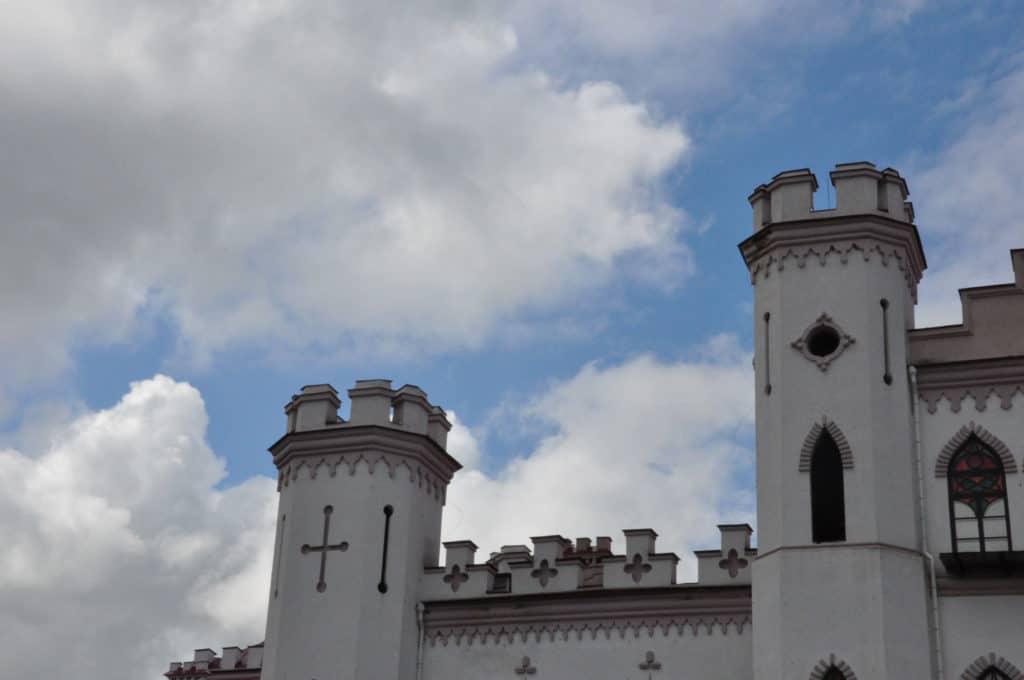 Верхняя часть дворца Пусловских в Косссово