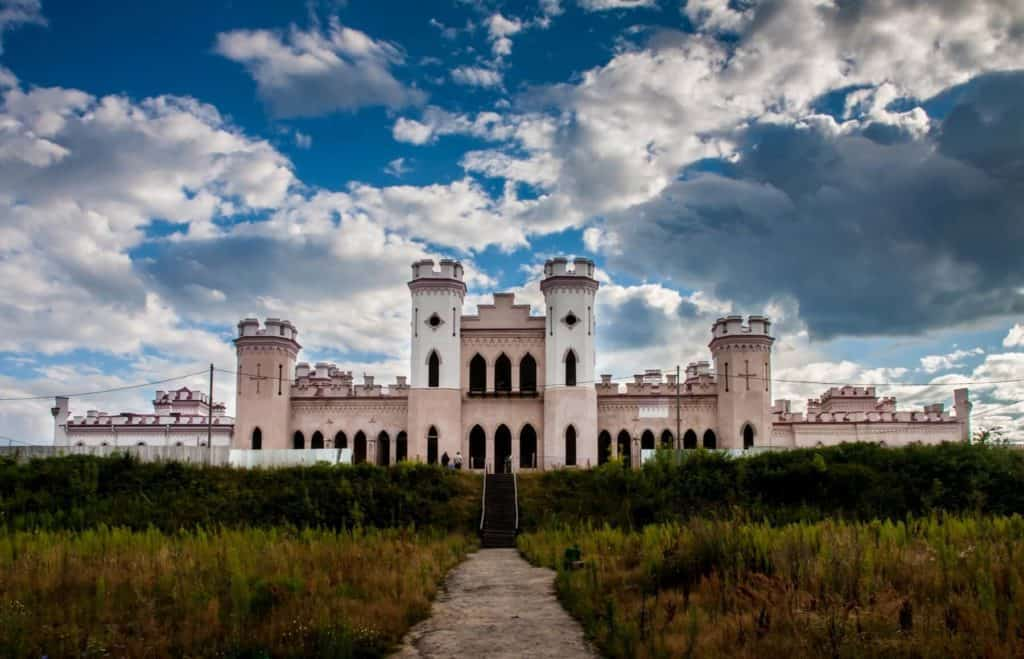 Kossovo castle in Belarus from afar