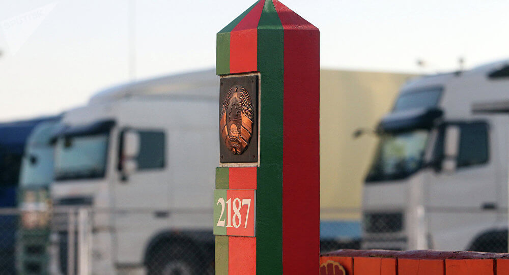 Belarus border, driving by car