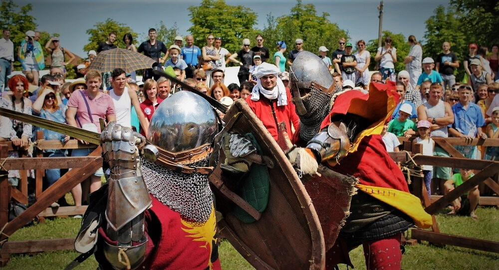 Bitva Chatyroh epoh, knights fest in Belarus