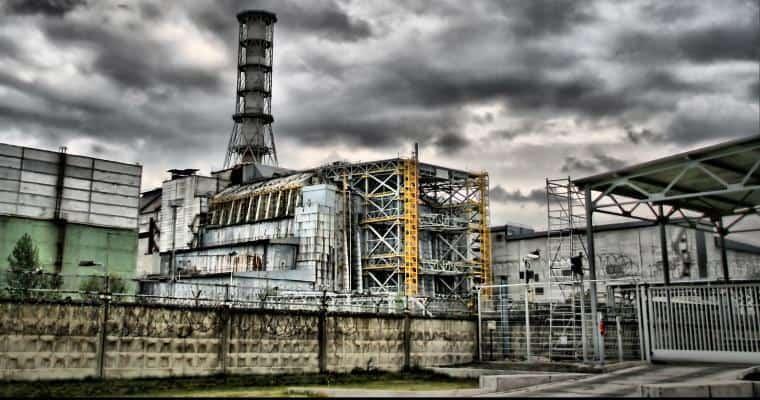 Атомный реактор в Чернобыле после катастрофы