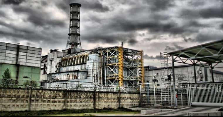 Chernobyl power plant after disaster