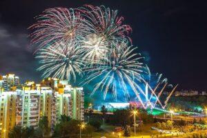 Празднования дня города Минска, салют