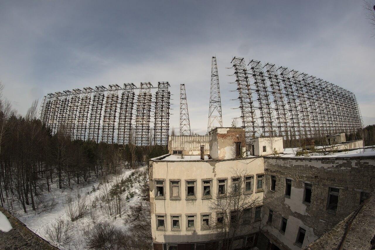 Панорама Чернобыля после аварии