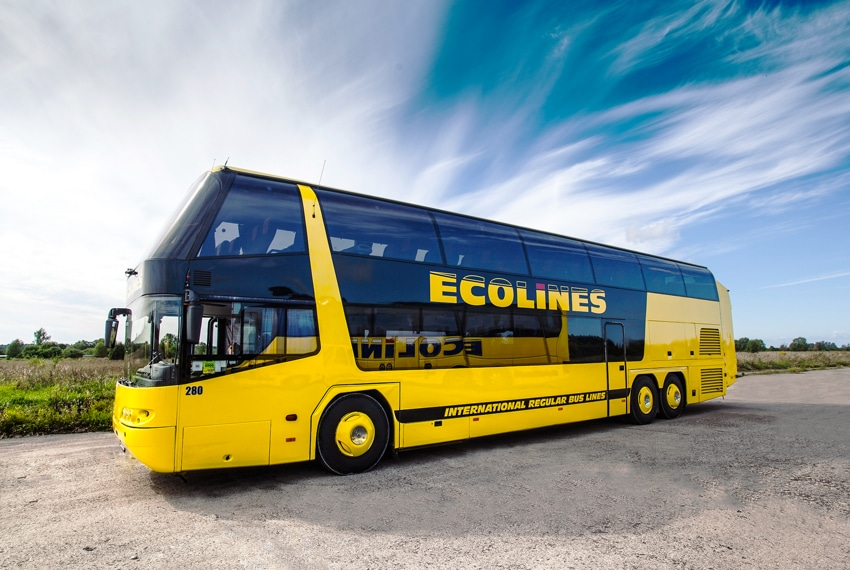 Ecolines bus, travel around Belarus