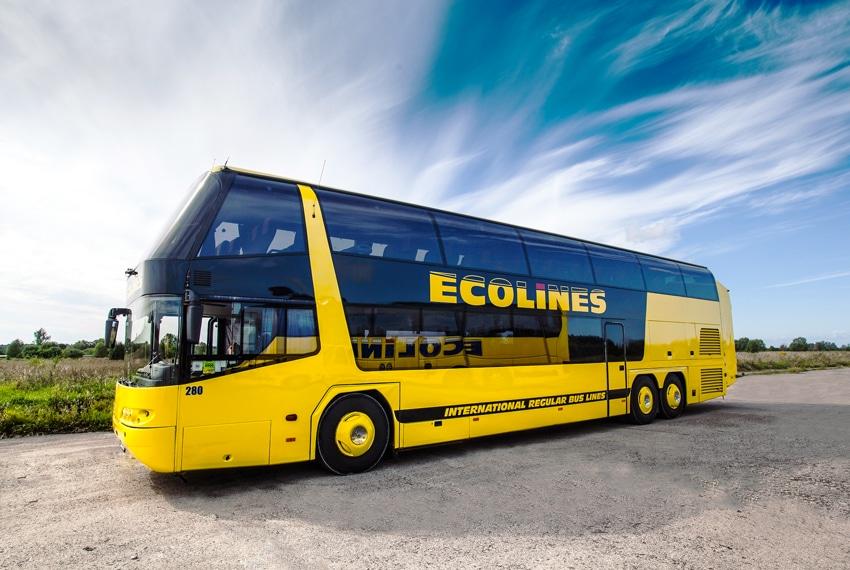 Международный автобус компании Ecolines