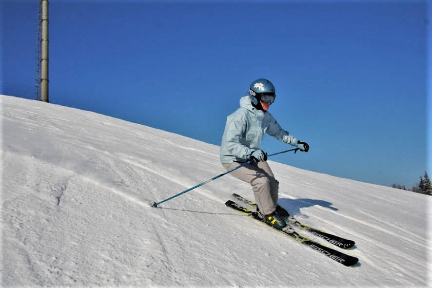 Ski resorts in Belarus, Skier in Logoisk
