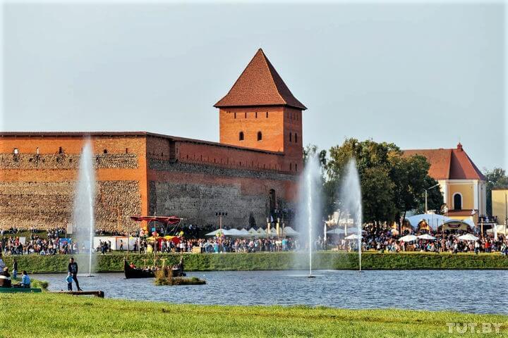 Lidbeer festival near Lida castle in Belarus
