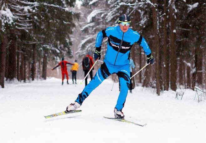 Skier in Silichi ski resort