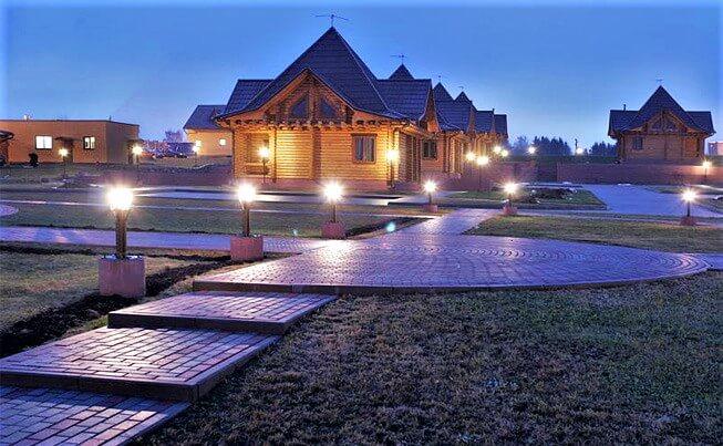 Silichi ski resort in summer at night