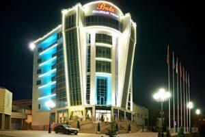 Buta Elite Hotel in Minsk at night