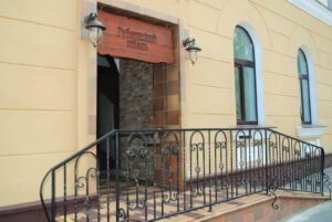Gubernskij hotel entrance in Minsk, Belarus