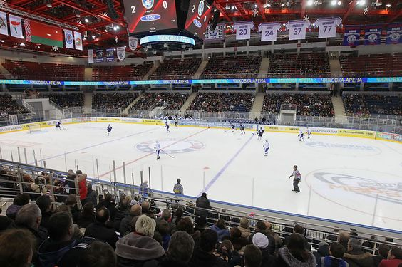Hockey game in Belarus, sports activities