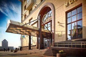 Minsk Hotel entrance