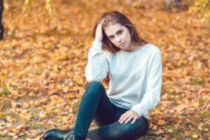 Facts about Belarusian women, autumn portrait